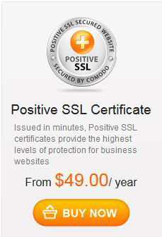 Comodo Positive SSL Certificate for Security